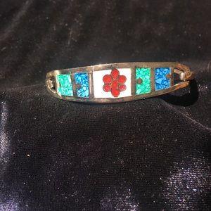 Vintage Sterling Silver Mexican Alpaca Bracelet